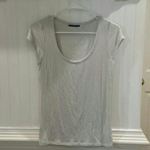 Elie Tahari Silver Short Sleeve Women's Shirt